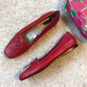 ARRAY: Red Leather Hamilton Loafers Size 9N